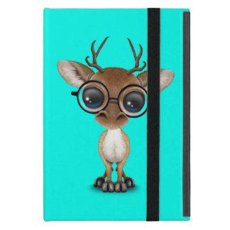 Capa iPad Mini Cervos Nerdy do bebê que vestem vidros