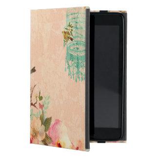 Capa iPad Mini Chique, pássaro, borboleta, laço, floral, país ch