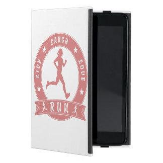 Capa iPad Mini Círculo fêmea FUNCIONADO do riso amor vivo (rosa)