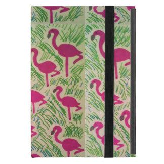 Capa iPad Mini Cobrir tropical da tabuleta do flamingo