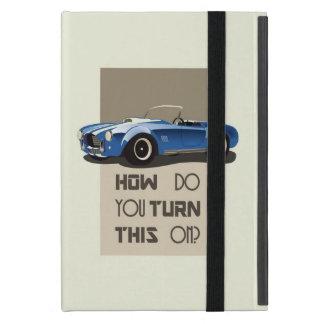 Capa iPad Mini Como você gira este no carro azul da cobra