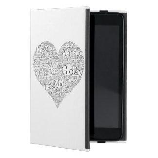 Capa iPad Mini Coração australiano do calão