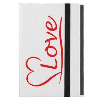 Capa iPad Mini Coração com amor
