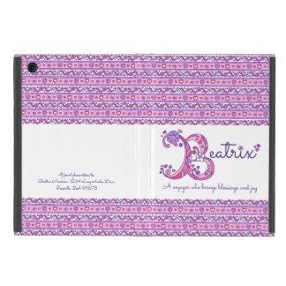 Capa iPad Mini Coração da letra B de Beatrix e caso do ipad da