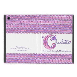 Capa iPad Mini Coração da letra C de Charlotte e caso do ipad da