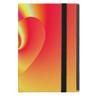 Capa iPad Mini Coração do amor do redemoinho do arco-íris