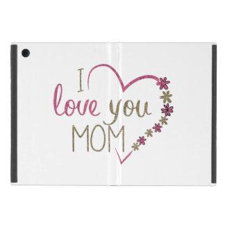 Capa iPad Mini Coração do dia das mães da mamã do amor