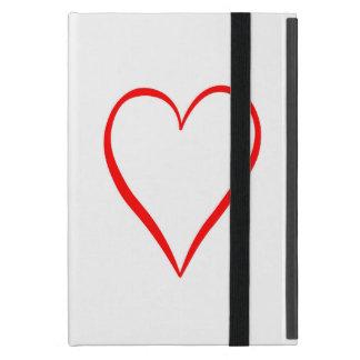 Capa iPad Mini Coração pintado em pano de fundo branco