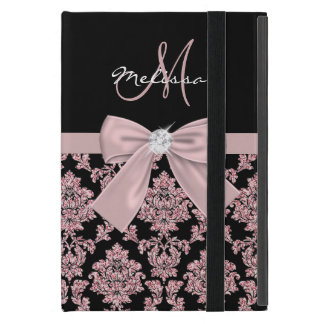 Capa iPad Mini Damasco cor-de-rosa do preto do brilho do ouro,