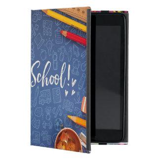 Capa iPad Mini De volta ao giz e ao papel de carta da escola