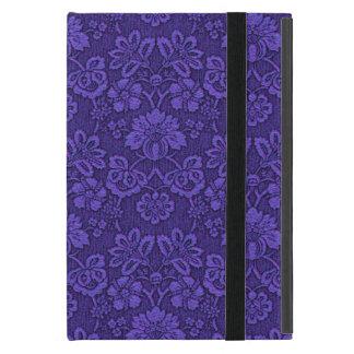 Capa iPad Mini Decoração roxa floral