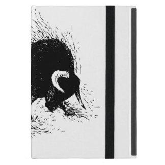 Capa iPad Mini Desenho da mão de um touro raging