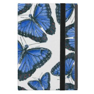 Capa iPad Mini Design azul do teste padrão de borboleta do morpho