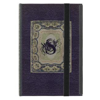 Capa iPad Mini Design do livro do monograma do Victorian