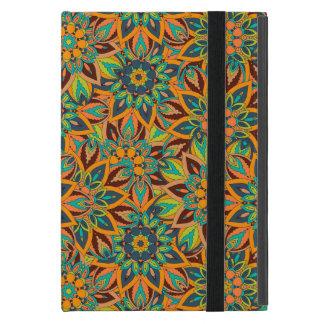 Capa iPad Mini Design floral do teste padrão do abstrato da