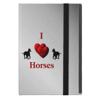 Capa iPad Mini Design legal dos cavalos do coração de I