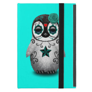 Capa iPad Mini Dia azul do pinguim inoperante do bebê