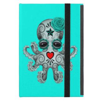 Capa iPad Mini Dia azul do polvo inoperante do bebê