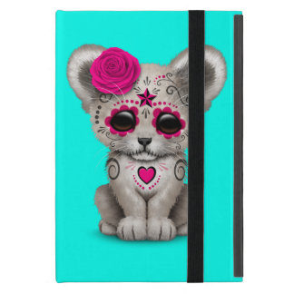 Capa iPad Mini Dia cor-de-rosa do leão Cub inoperante