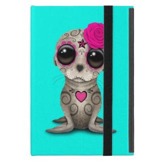 Capa iPad Mini Dia cor-de-rosa do leão de mar inoperante do bebê