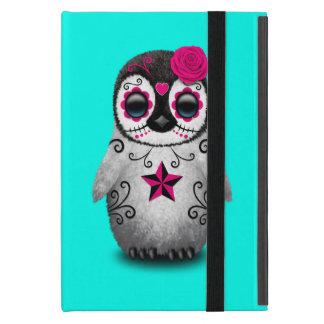 Capa iPad Mini Dia cor-de-rosa do pinguim inoperante do bebê