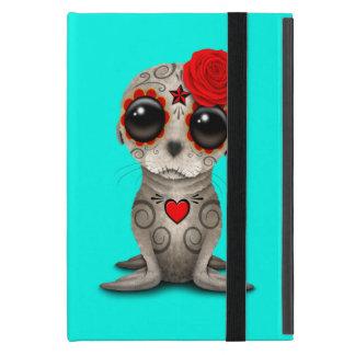 Capa iPad Mini Dia vermelho do leão de mar inoperante do bebê
