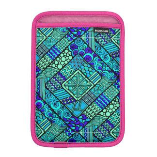 Capa iPad Mini Do abstrato verde do azul de Boho teste padrão