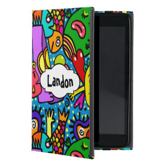 Capa iPad Mini Doodle personalizado dos desenhos animados do