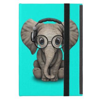 Capa iPad Mini Elefante bonito DJ do bebê que veste fones de