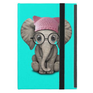 Capa iPad Mini Elefante bonito do bebê que veste o chapéu do