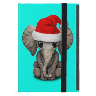 Capa iPad Mini Elefante do bebê que veste um chapéu do papai noel