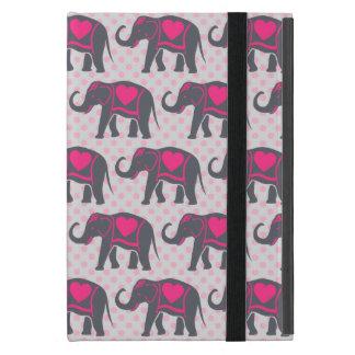Capa iPad Mini Elefantes cor-de-rosa quentes cinzentos bonito em
