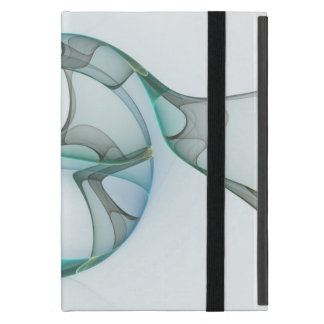 Capa iPad Mini Elegância azul do abstrato das cinzas de turquesa