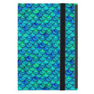 Capa iPad Mini Escalas do azul do Aqua de Falln