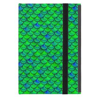 Capa iPad Mini Escalas verdes do azul de Falln