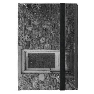 Capa iPad Mini Este Grayscale velho da parede da rocha