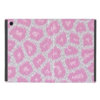 Capa iPad Mini Estilo do leopardo de neve - rosa de prata