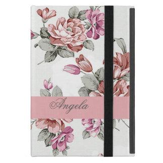 Capa iPad Mini Feminino chique do vintage Flor-Personalizado