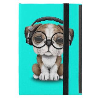 Capa iPad Mini Filhote de cachorro bonito DJ do buldogue que