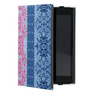 Capa iPad Mini Flor de lis intrincada no rosa e no azul