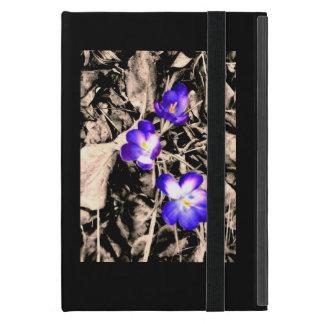 Capa iPad Mini Flor roxa