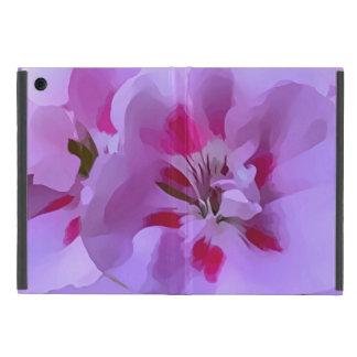 Capa iPad Mini Flor violeta do hibiscus do abstrato do rosa