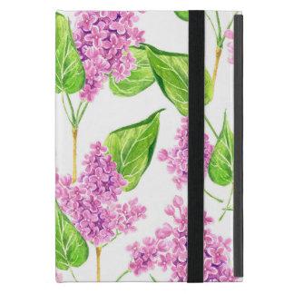 Capa iPad Mini Flores cor-de-rosa do lilac da aguarela