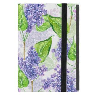 Capa iPad Mini Flores do lilac da aguarela