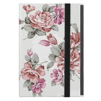 Capa iPad Mini Flores femininos gastos chiques do vintage