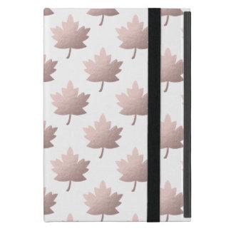 Capa iPad Mini folhas cor-de-rosa claras elegantes da folha de