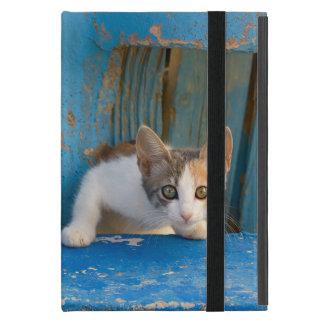 Capa iPad Mini Foto curiosa engraçada dos olhos do gatinho bonito