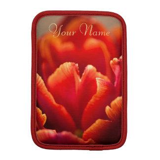 Capa iPad Mini Foto vermelha bonito das pétalas da tulipa.