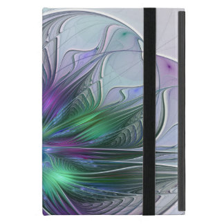 Capa iPad Mini Fractal moderno da arte abstracta da flor verde