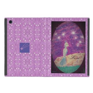Capa iPad Mini Fundo estrelado do rouxinol lírico da fantasia